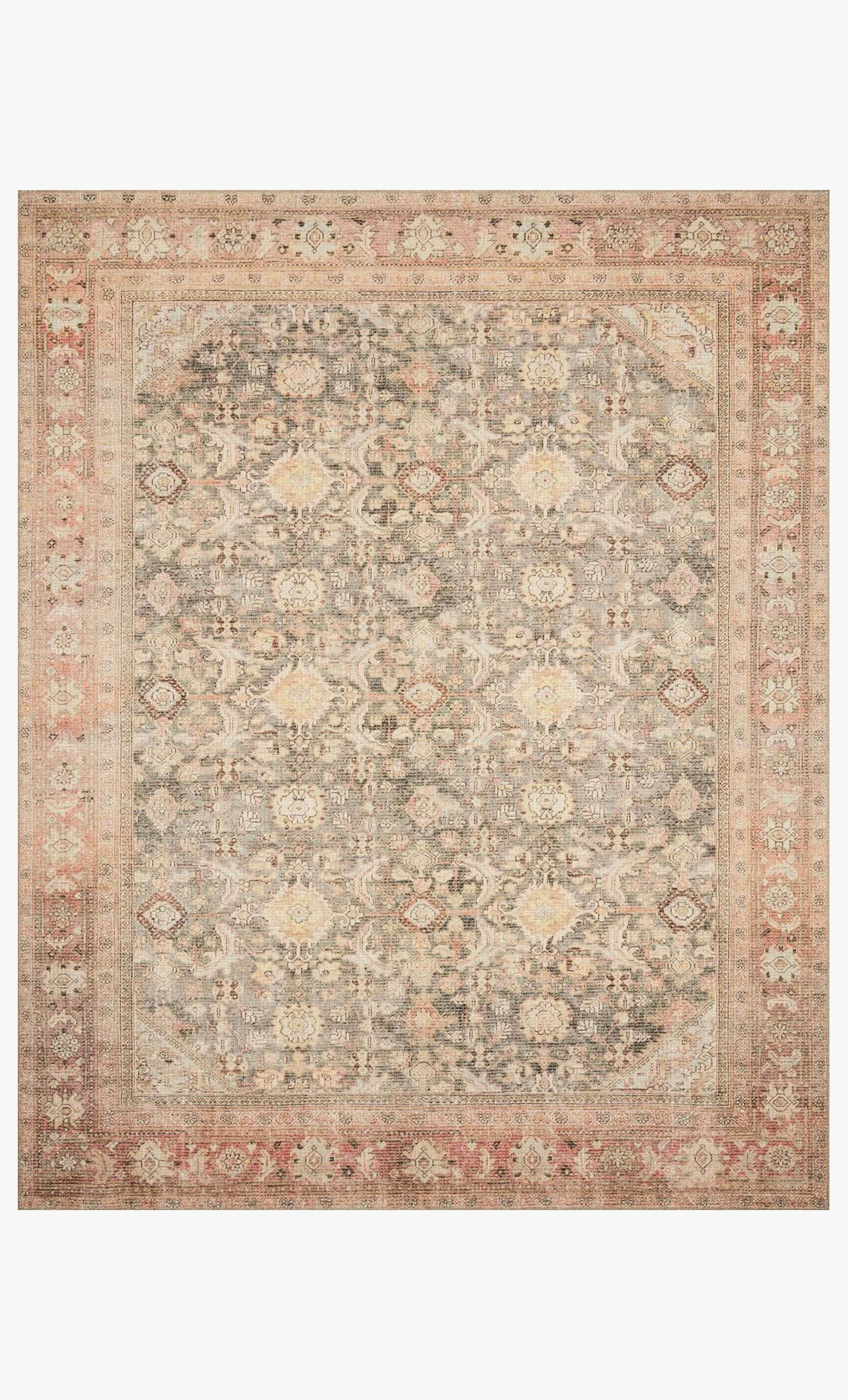 Picture of Deven Charcoal/Blush Rug