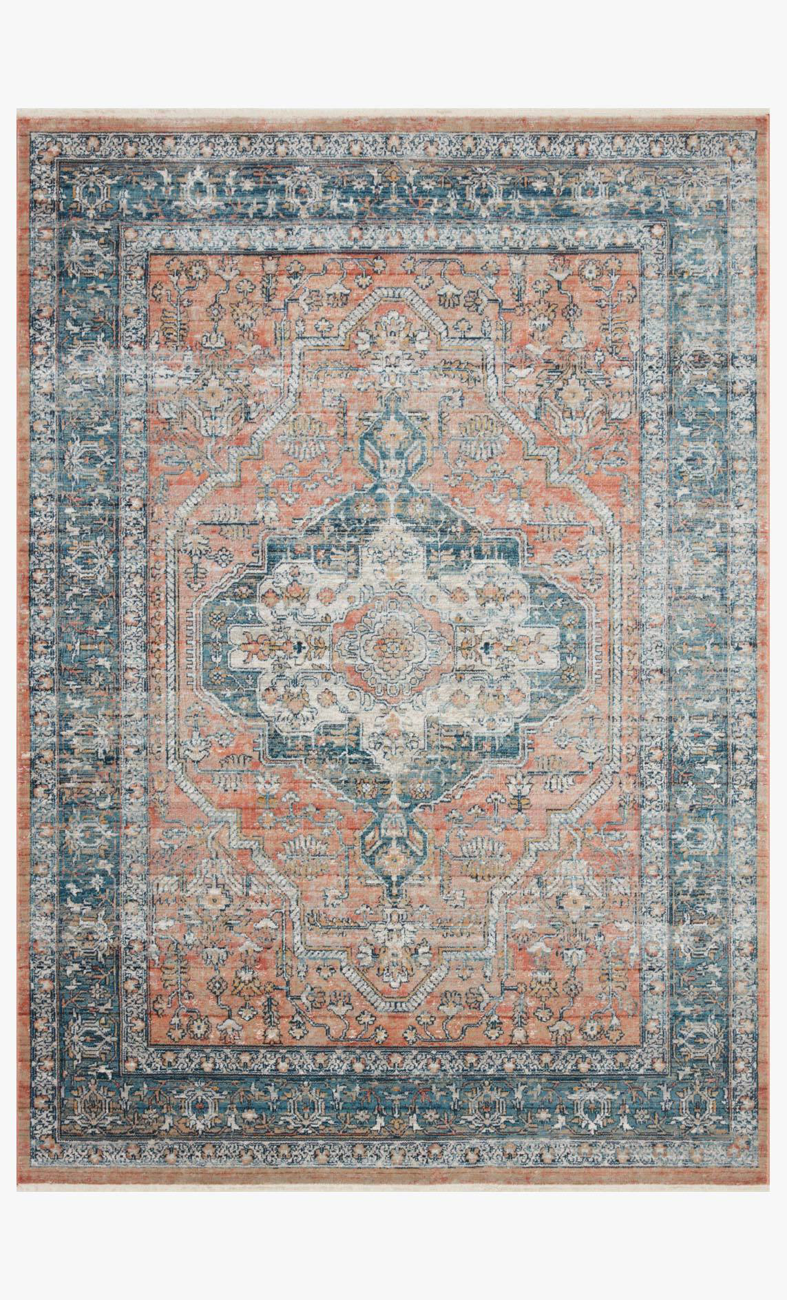 Picture of Elise Coral/Blue Rug