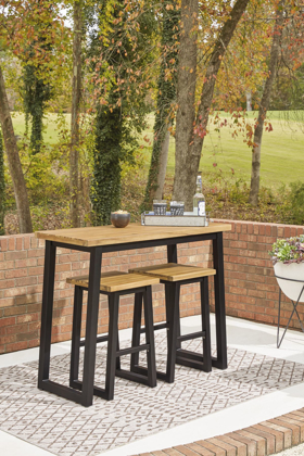 Picture of Town Wood Patio Pub Table & 2 Stools