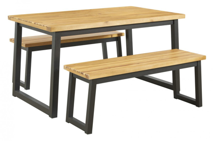 Picture of Town Wood Patio Table & 2 Benches