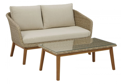 Picture of Crystal Cave Patio Loveseat with Table