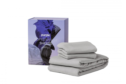 Picture of Purple SoftStretch Queen Sheets
