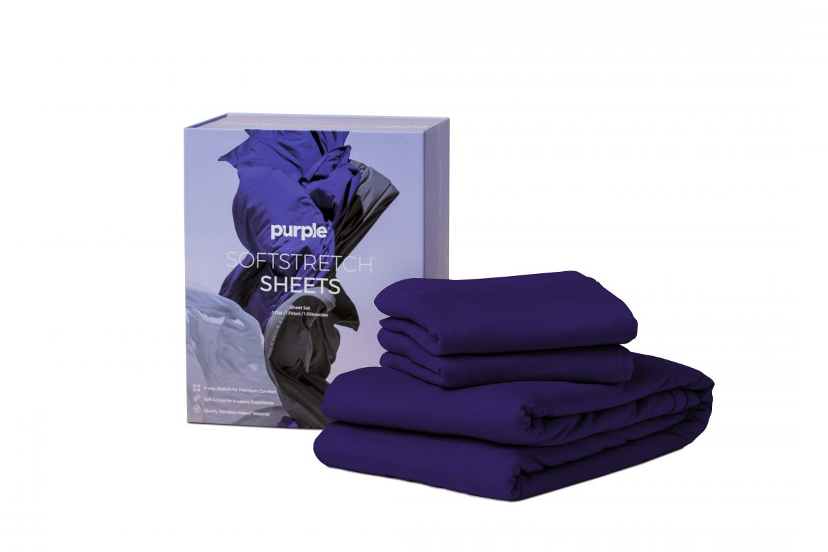 Picture of Purple SoftStretch Split King Sheets