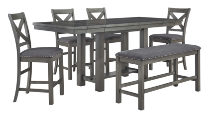 Picture of Myshanna Pub Table, 4 Stools & Bench