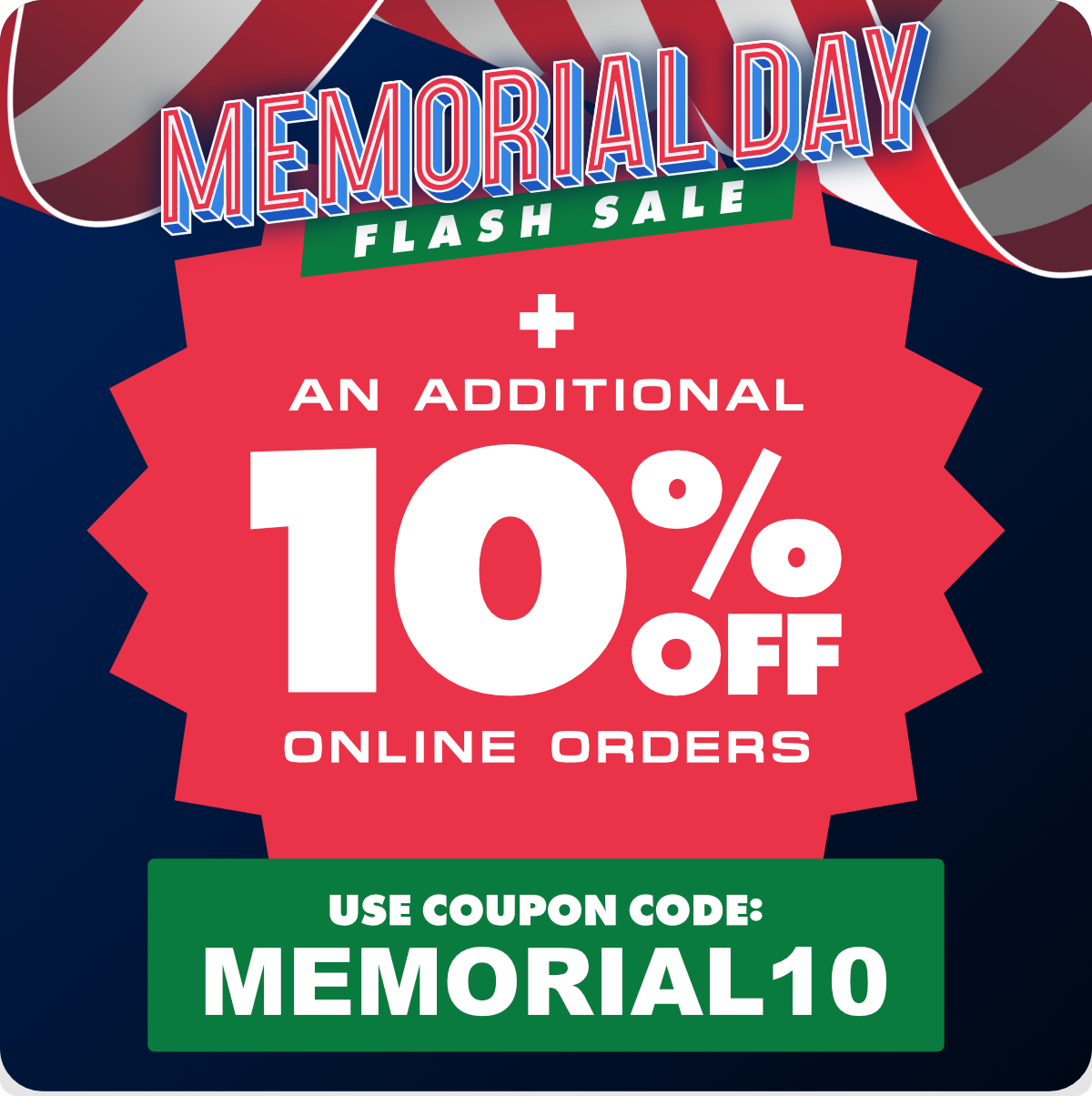 Memorial Day Flash Sale